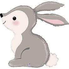3207-2256  фигура кролик лесной 64х68см