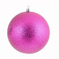 Ялинкова прикраса куля Yes Fun d-10см фіолетовий гліттер (973203)
