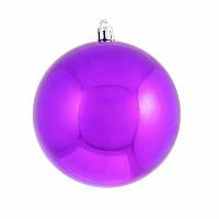 Ялинкова прикраса куля Yes Fun d-10см фіолетовий (973207)