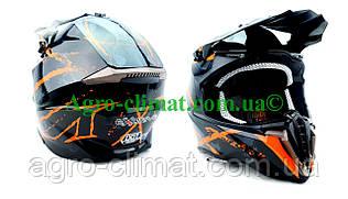 Кроссовый мотошлем 806 Spider Orange глянцевый S/M