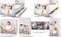 Кровать для девочки Лиловый бархат Дрема Стайл от 1400х700