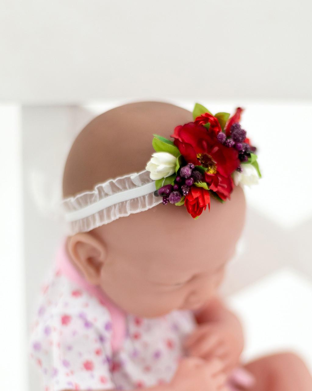Ободок с цветами для деток