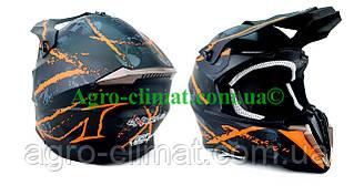 Кроссовый мотошлем 806 Spider Orange Matt S/M