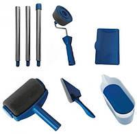 Набор Paint Roller: валики для покраски углов и поверхностей, поднос, лоток и сборная ручка, синий