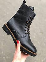 Женские зимние ботинки кожаные на шнуровке берцы, ботинки женские зимние кожаные от производителя
