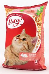 Сухой корм для кошек Мяу Кролик  11 кг