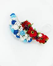Ободок с цветочками для девочки, фото 3