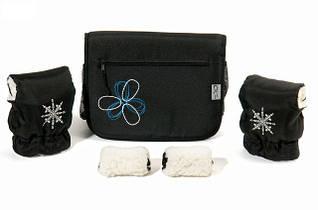 Комплект сумка и рукавички на коляску Ok Style