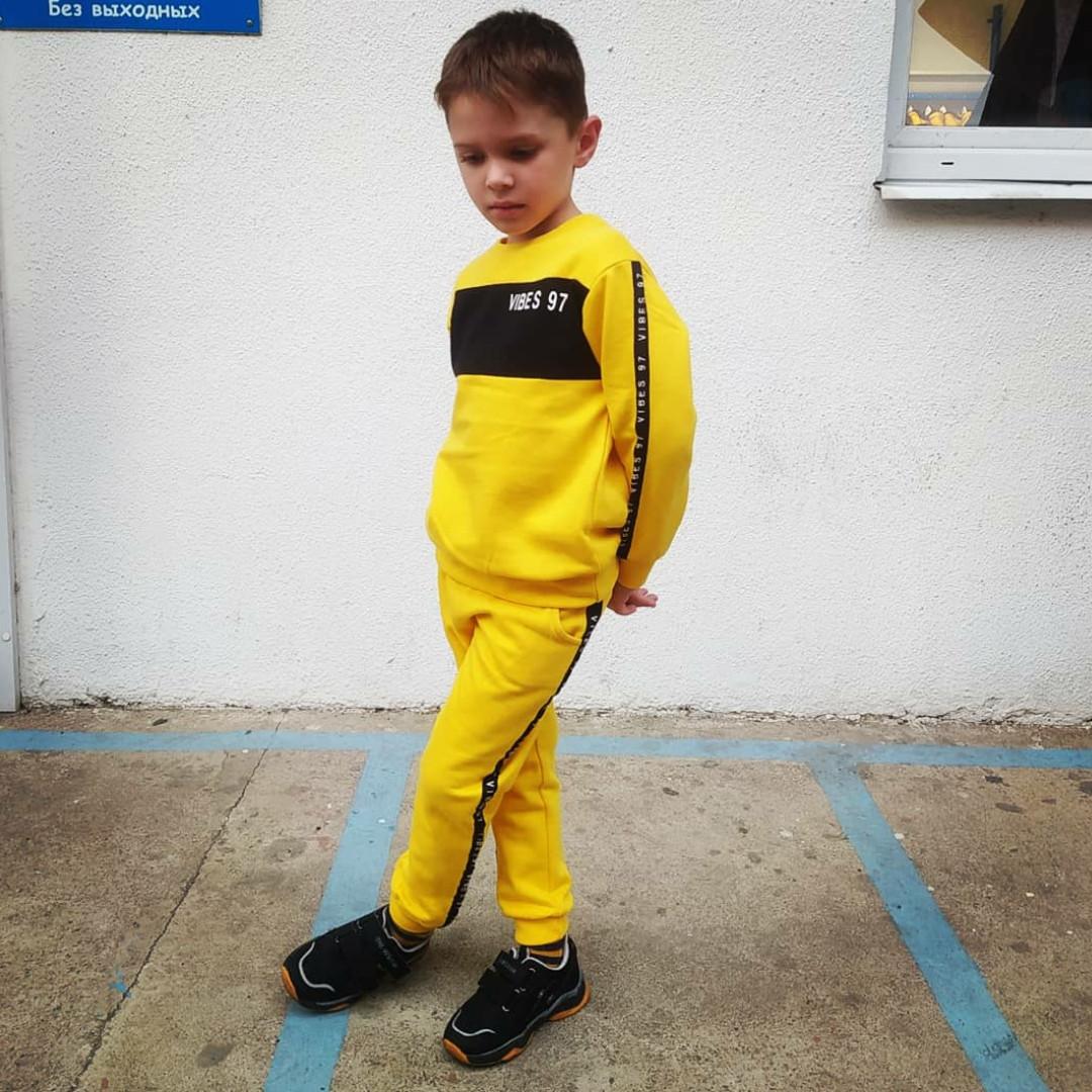 Детский желтый спортивный костюм для мальчика 1,5-6 лет, 86-92 cм