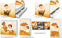 Кровать для девочки Оранжевое лето Дрема Стайл от 1400х700