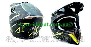 Кросовий мотошолом 806 Spider Neon Green Matt S/M