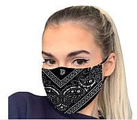 Маска защитная для лица декоративнаЯ темносиняя 19*12 см