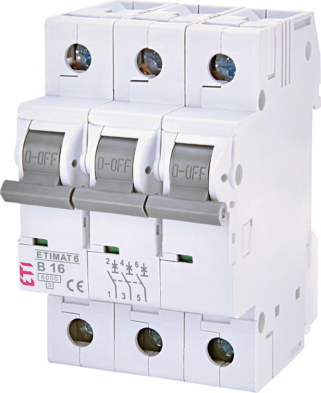 Авт. вимикач ETI ETIMAT 6 3p 16A B 6kA 2115516