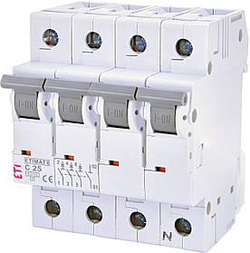 Авт. вимикач ETI ETIMAT 6 3+Np 25A C 6kA 2146518