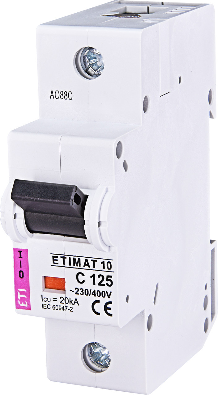 Авт. вимикач ETI ETIMAT 10 1p 125A C 10kA 2131733