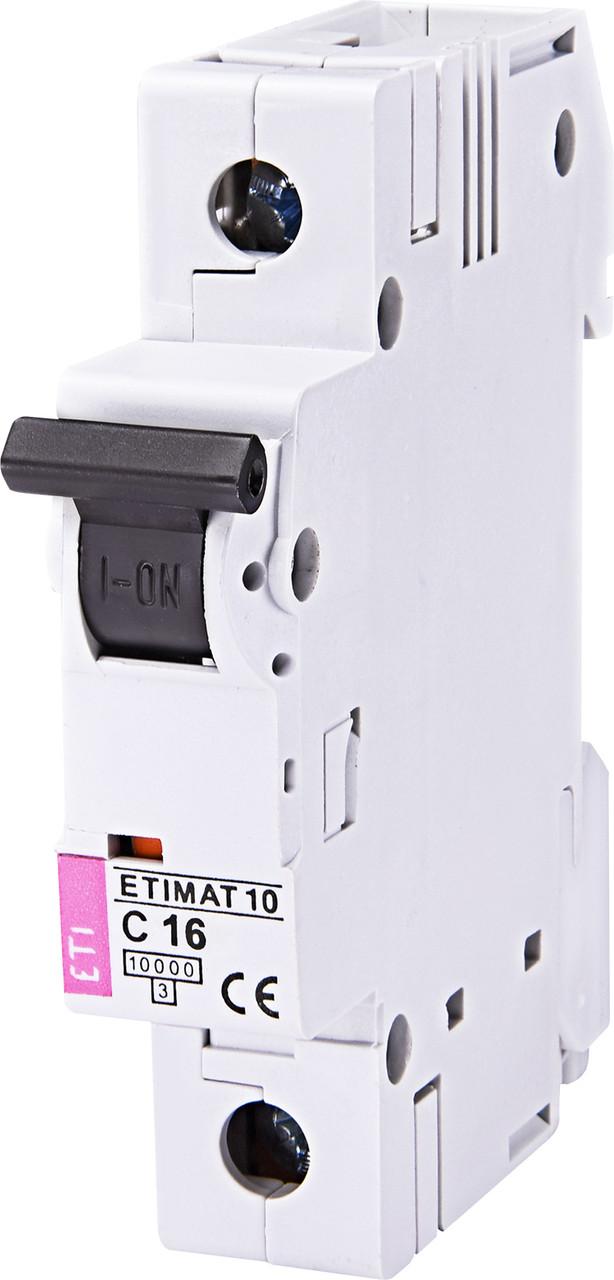Авт. вимикач ETI ETIMAT 10 1p 16A C 10kA 2131716
