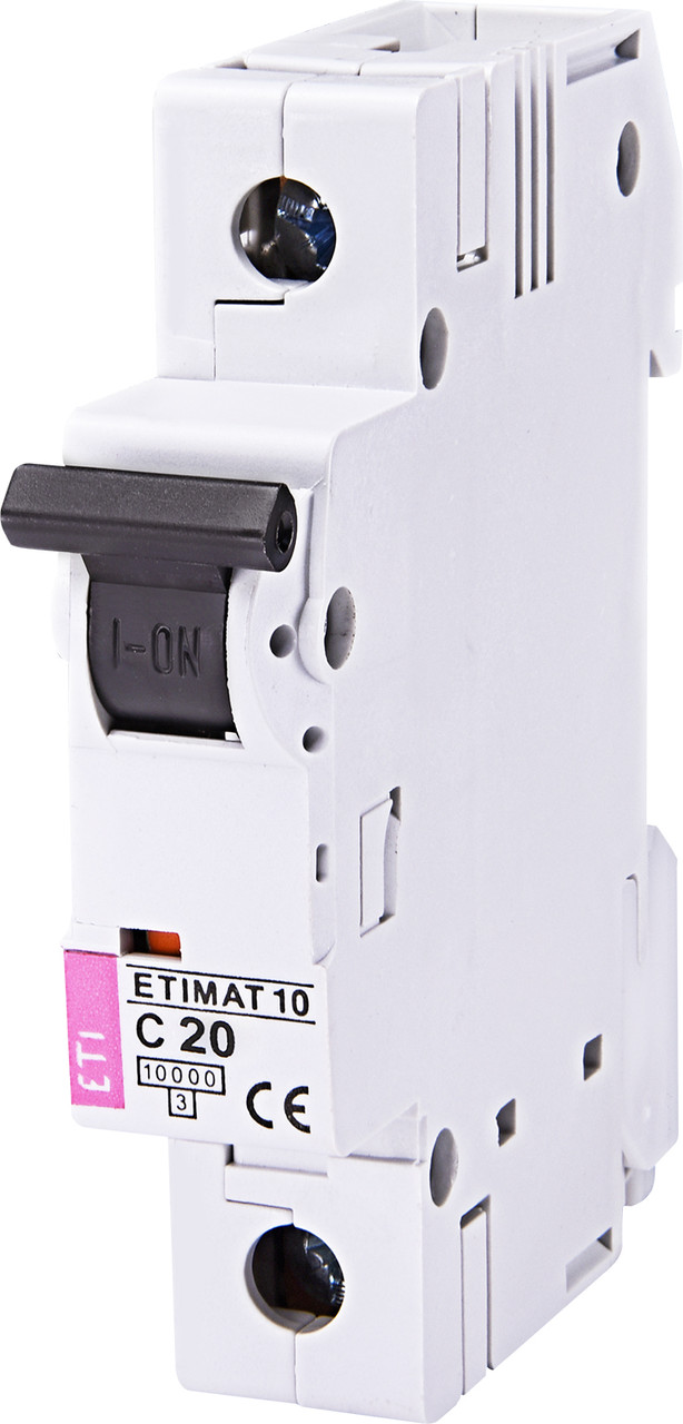 Авт. вимикач ETI ETIMAT 10 1p 20A C 10kA 2131717
