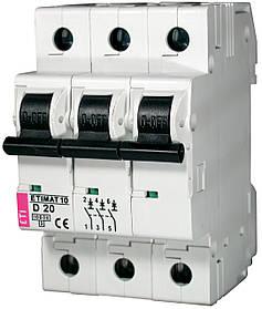 Авт. вимикач ETI ETIMAT 10 3p 20A D 10kA 2155717