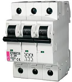 Авт. вимикач ETI ETIMAT 10 3p 20A C 10kA 2135717