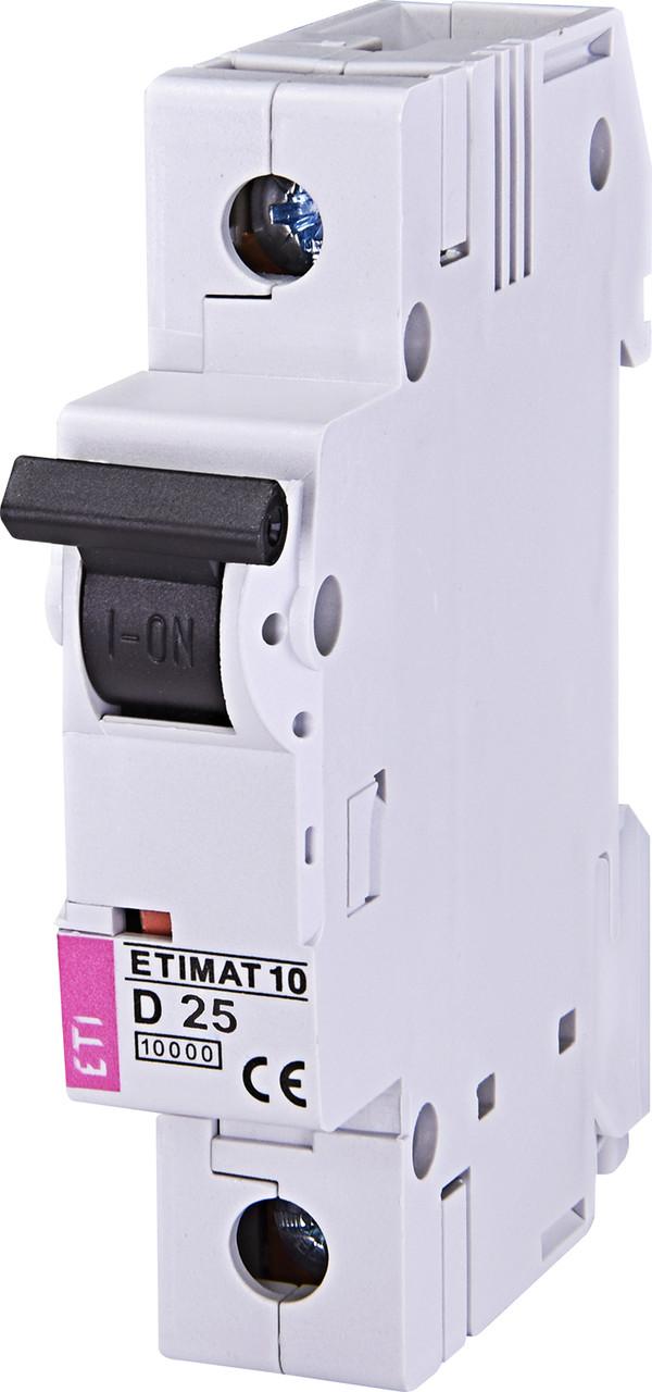 Авт. вимикач ETI ETIMAT 10 1p 25A D 10kA 2151718
