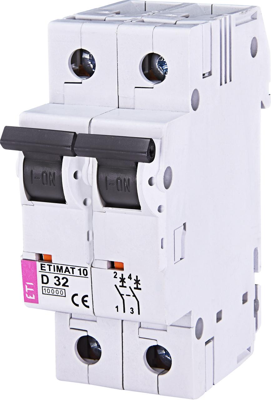 Авт. вимикач ETI ETIMAT 10 2p 32A D 10kA 2153719