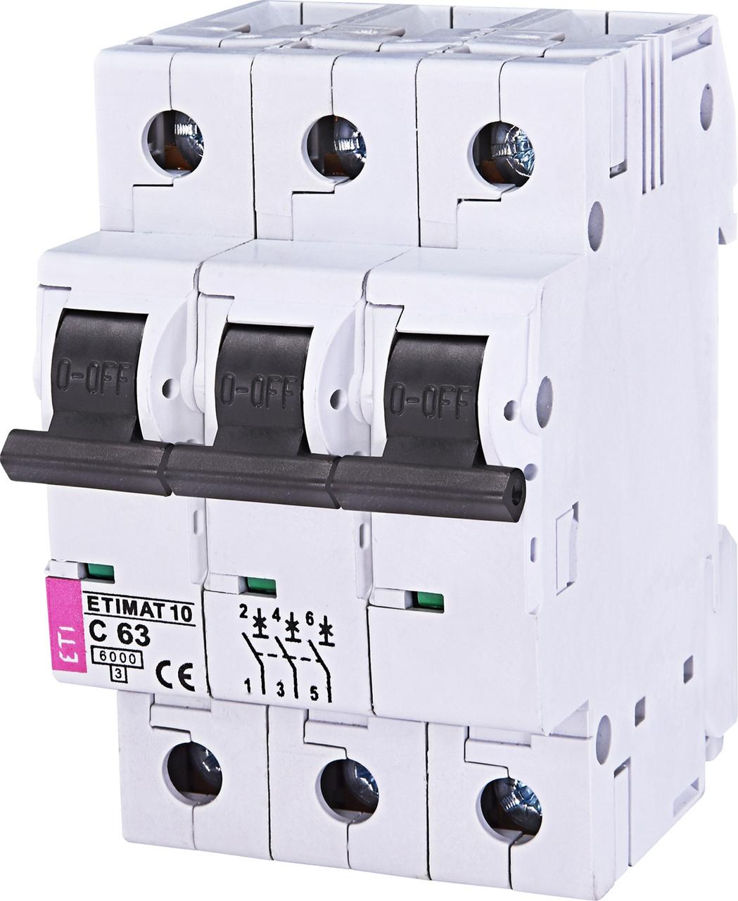 Авт. вимикач ETI ETIMAT 10 3p 63A C 10kA 2135722