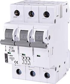 Авт. вимикач ETI ST-68 3p 20A C 4,5kA 2185317