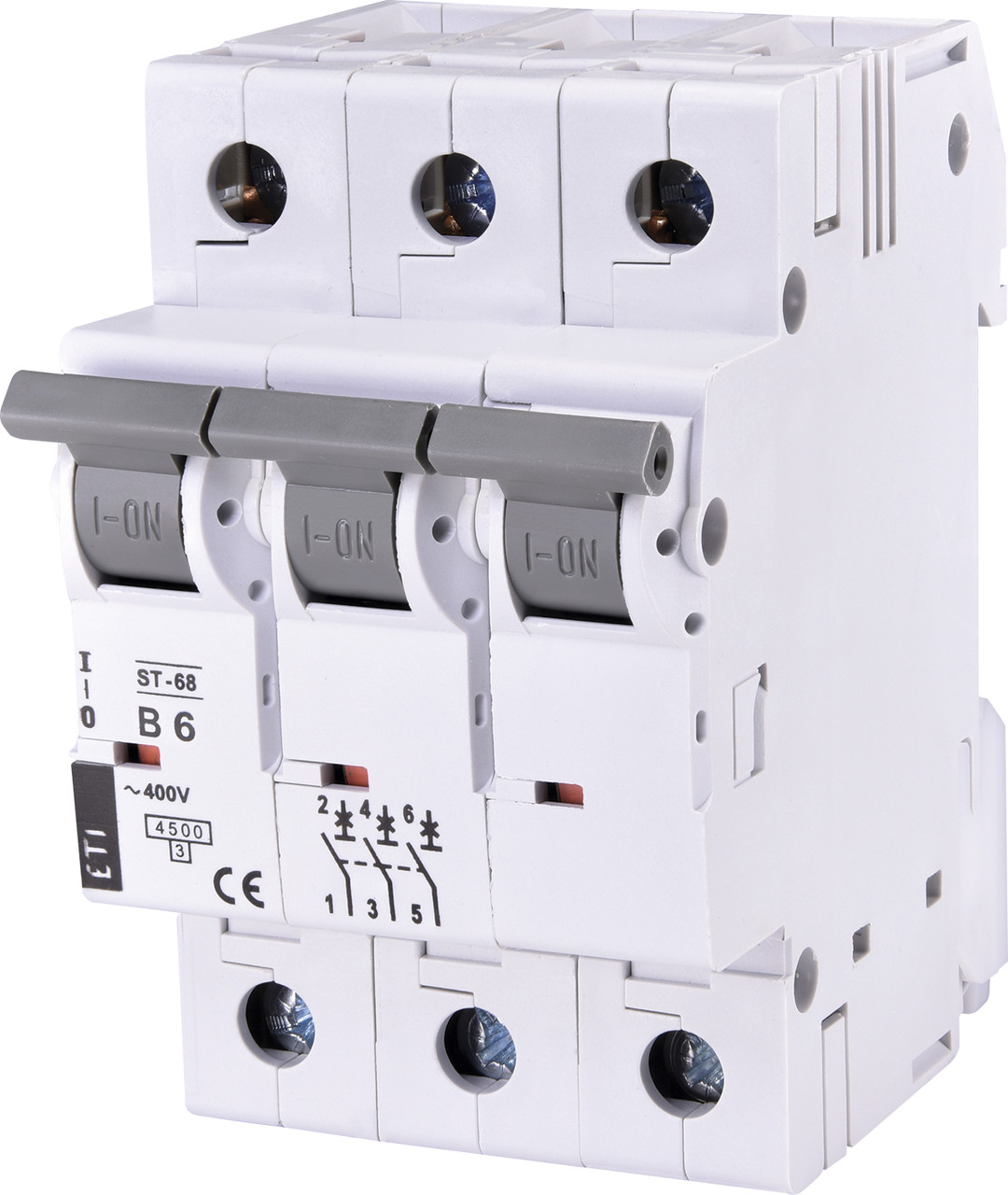 Авт. вимикач ETI ST-68 3p 6A B 4,5kA 2175312