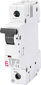 Авт. вимикач ETI ETIMAT 10  DC 1p 25A C 6kA 2137718