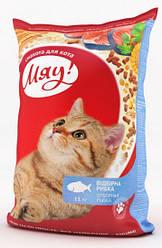 Сухой корм для кошек Мяу Рыба 14 кг