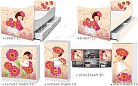 Кровать для девочки Время мечтать Дрема Стайл от 1400х700