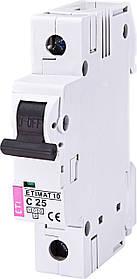 Авт. вимикач ETI ETIMAT 10 1p 25A C 10kA 2131718