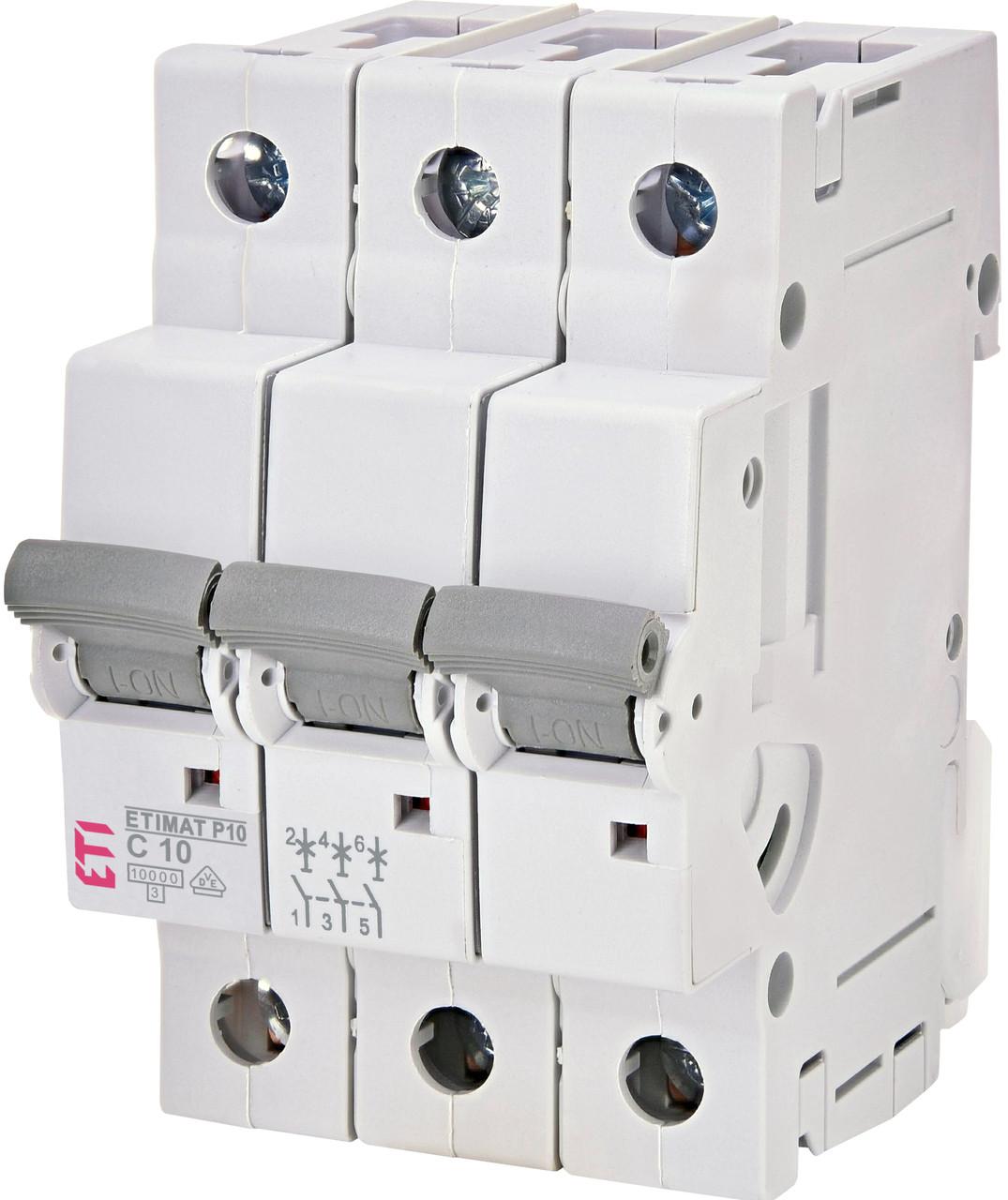 Авт. вимикач ETI ETIMAT P10 3p 10A 10kA 271031101