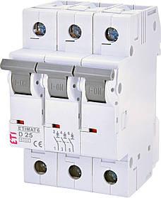 Авт. вимикач ETI ETIMAT 6 3p 25A D 6kA 2164518