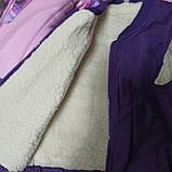 Зимний теплый костюм для девочки. В комплект входит куртка. штаны полукомбинезон. отстежной жилет., фото 3