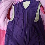 Зимний теплый костюм для девочки. В комплект входит куртка. штаны полукомбинезон. отстежной жилет., фото 2