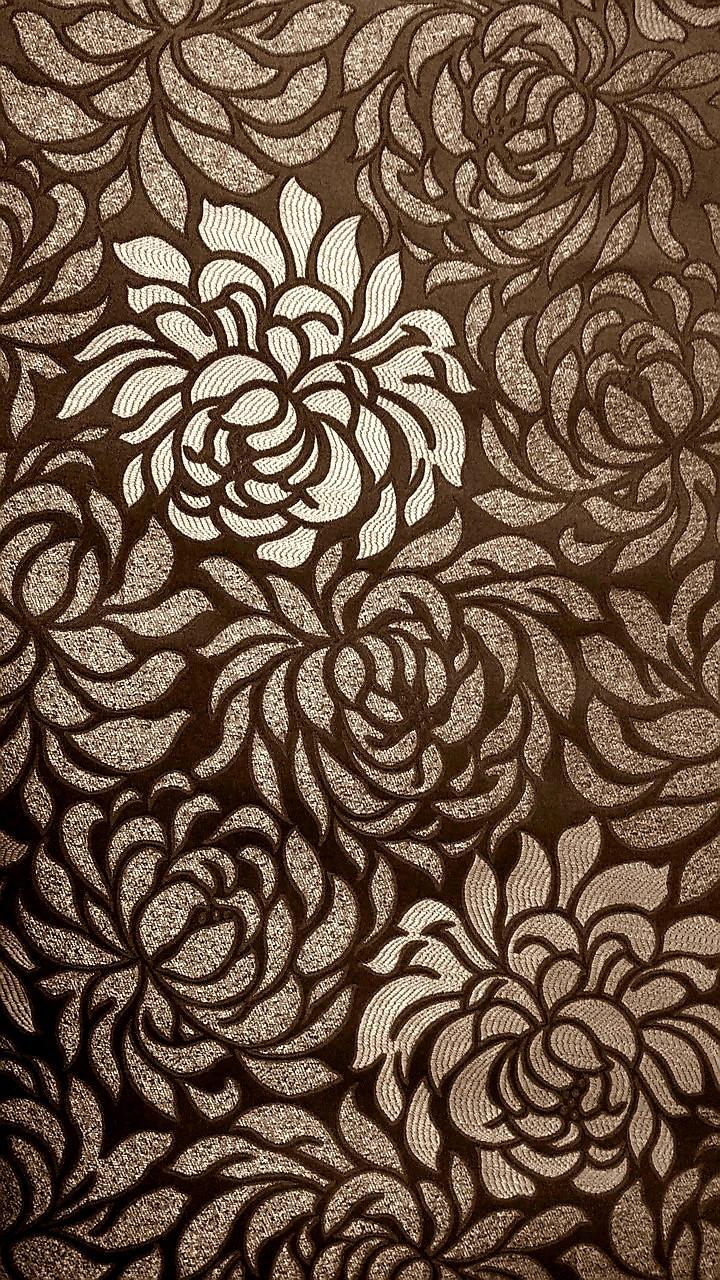 Мебельная жаккардовая ткань Клео браун