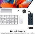 USB-хаб Promate EzHub-7 7хUSB 3.0 Grey, фото 2