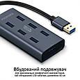 USB-хаб Promate EzHub-7 7хUSB 3.0 Grey, фото 4