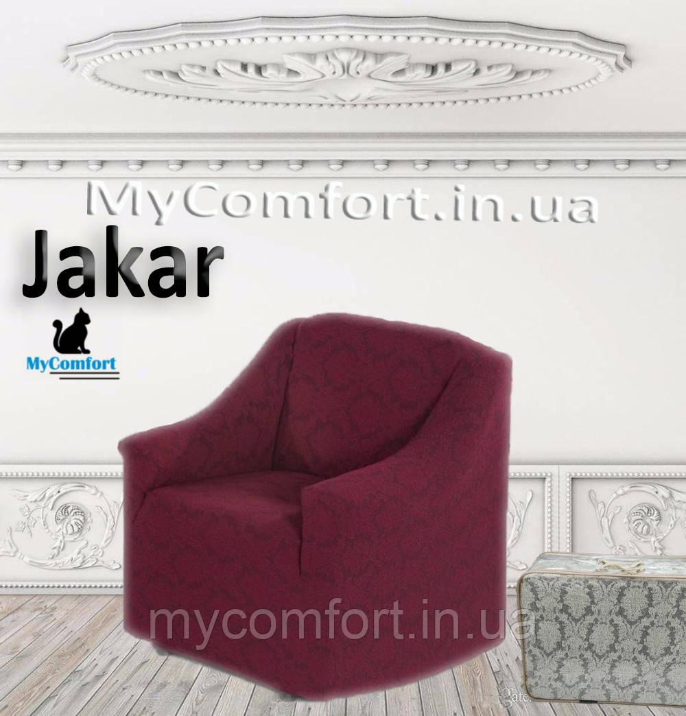 Чохол на крісло JaKar. Бордовий