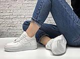 Кроссовки зимние Nike Air Force low full white (Реплика ААА), фото 2