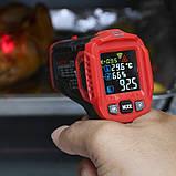 Пірометр Habotest HT650C (IR: -30 ... +550 °C) D:S: 12:1; EMS: 0.10-1.00. Температура і вологість повітря, фото 7