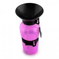 Поилка для собак переносная Dog Water Bottle 7363, розовая
