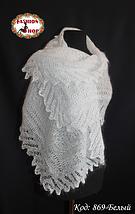 Женский белый пуховый плантин Эдита, фото 2