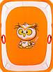 Манеж Qvatro Солнышко-02 мелкая сетка  оранжевый (owl), фото 2