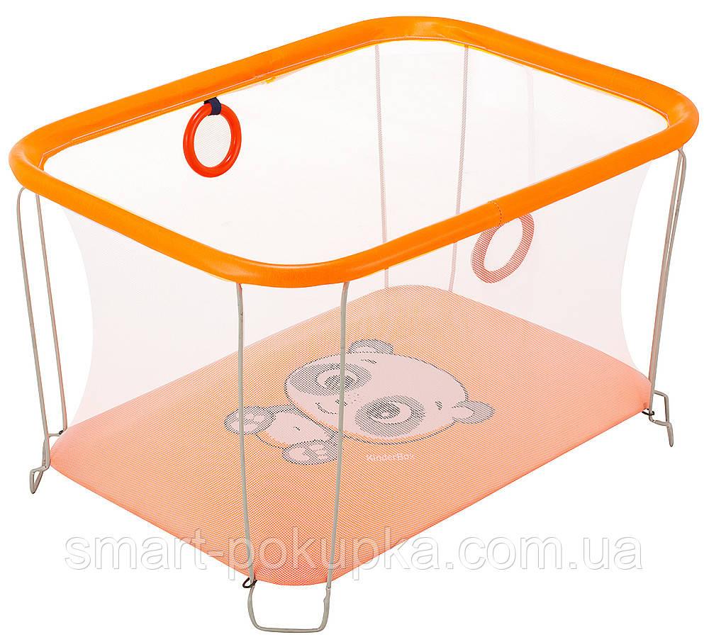 Манеж Qvatro Солнышко-02 мелкая сетка  оранжевый (panda)