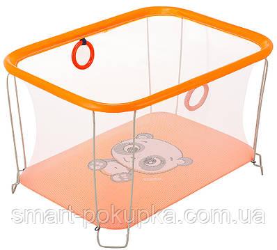 Манеж Qvatro Сонечко-02 дрібна сітка помаранчевий (panda)
