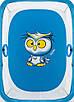 Манеж Qvatro LUX-02 мелкая сетка  синий (owl), фото 2
