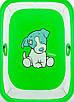 Манеж Qvatro Солнышко-02 мелкая сетка  зеленый (dog), фото 2