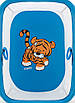 Манеж Qvatro Солнышко-02 мелкая сетка  синий (tiger), фото 2